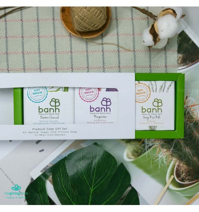 Soap Gift Set - 3 of 100 gm cold-pressed soap - Banh soap