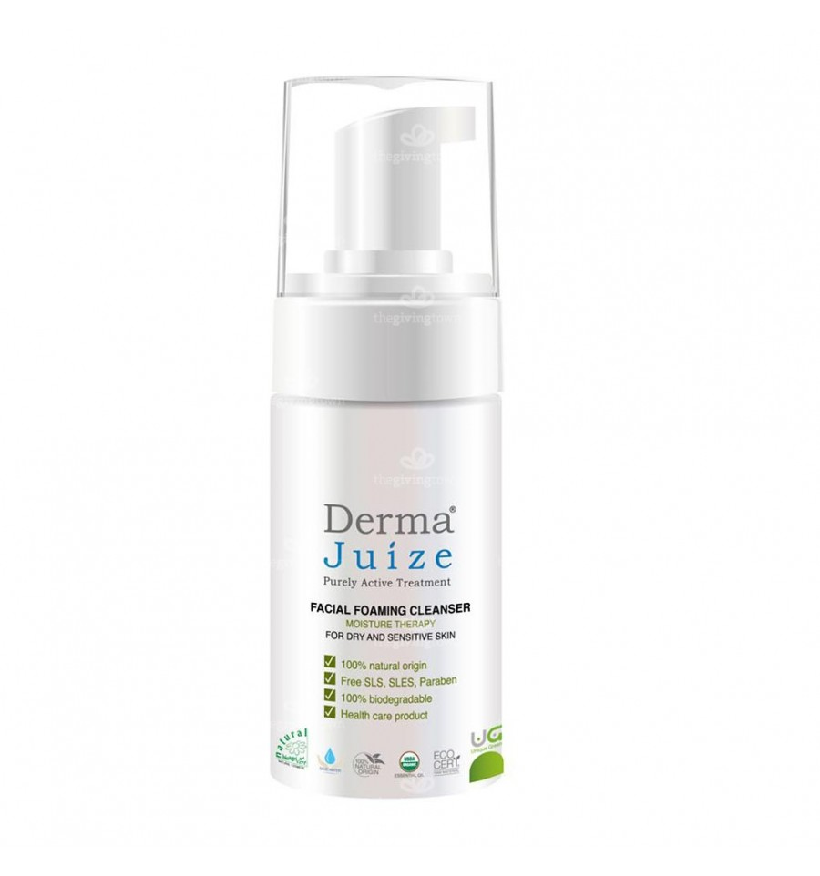 Facial foam cleansing Dry - Derma Juize   The Giving Town