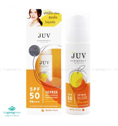 JUV Superfruit Matte-Fluid UV Protection SPF 50 PA+++ 30 มล.
