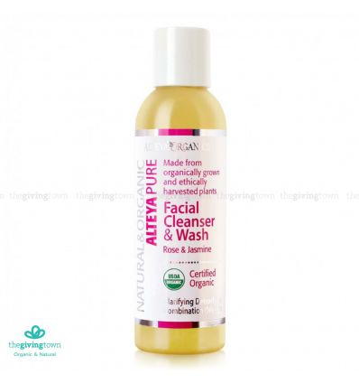 ALTEYA Organics Facial Cleanser & Wash - Rose & Jasmine
