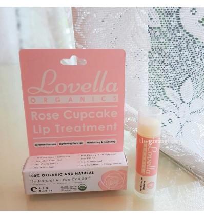 ลิปบาล์ม Lovella Organics - Rose Cupcake Lip Treatment