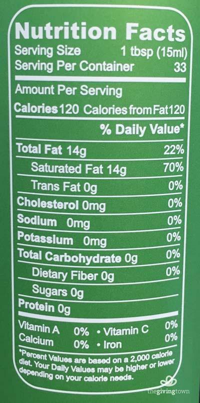 คุณประโยชน์ โภชนาการทางอาหาร MCT Oil