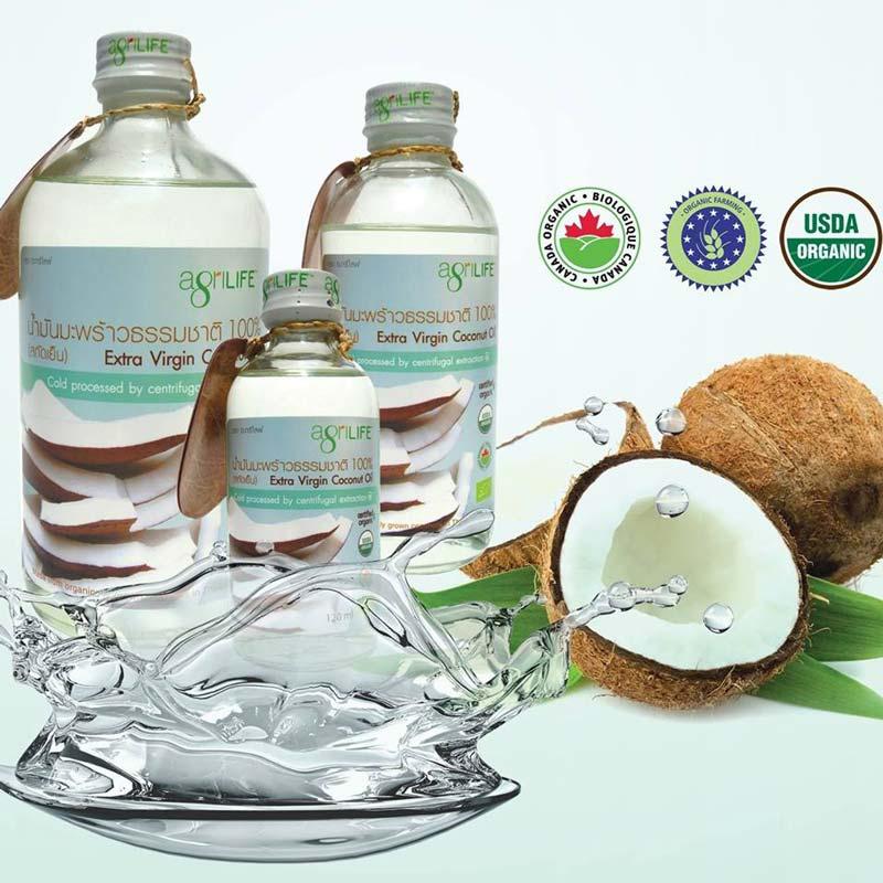 Agrilife น้ำมันมะพร้าวสกัดเย็น เกรดออร์แกนิค USDA certified organic