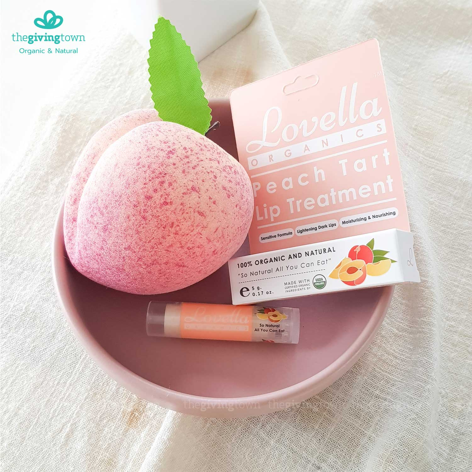 Lovella Peach Lip Balm